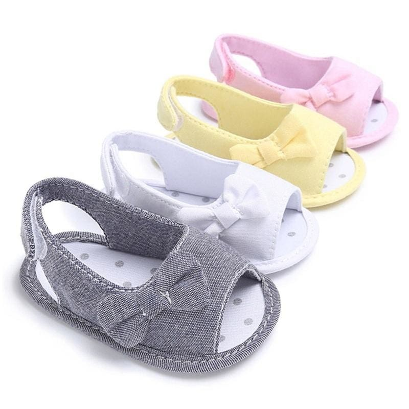 Beautiful Summer Girl Baby Bowknot Sandals Newborn Infant Casual Outdoor  Princess Crib Shoes