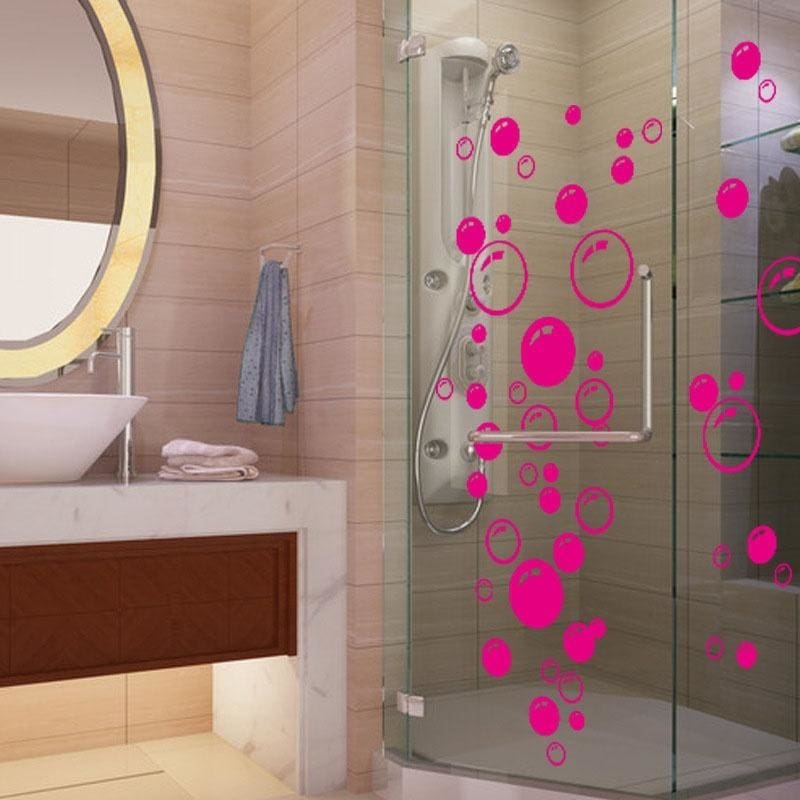 wall art bathroom shower tile removable decor decal mural kid sticker bubble CL