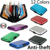 Business ID Credit Card Cash Pocket Holder Wallet Aluminum Alloy Shell Case