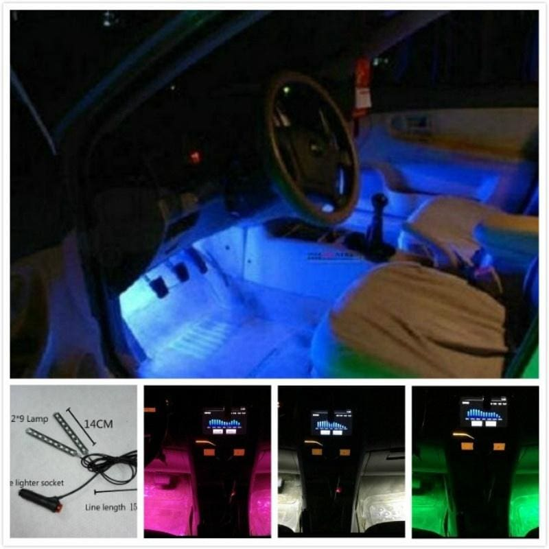12V DC Atmosphere LED Light For Car Charge Interior RGB Light Accessories Decor