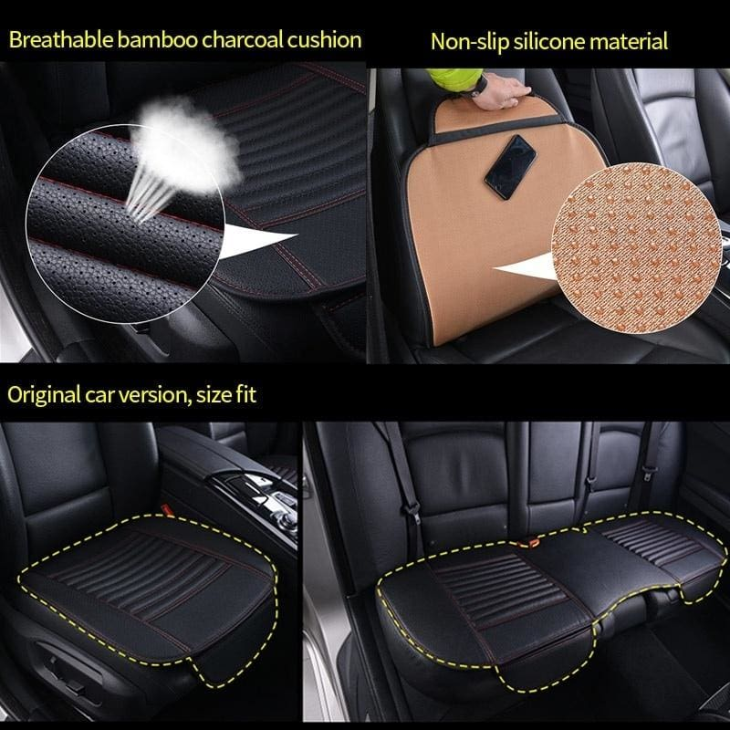 5-Seat Waterproof Car Seat Covers Protector Cushion Pad Durable leather Full Set