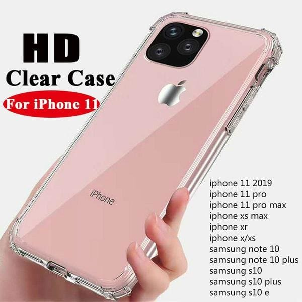 Case TPU Clear Cover Iphone X XR XS max