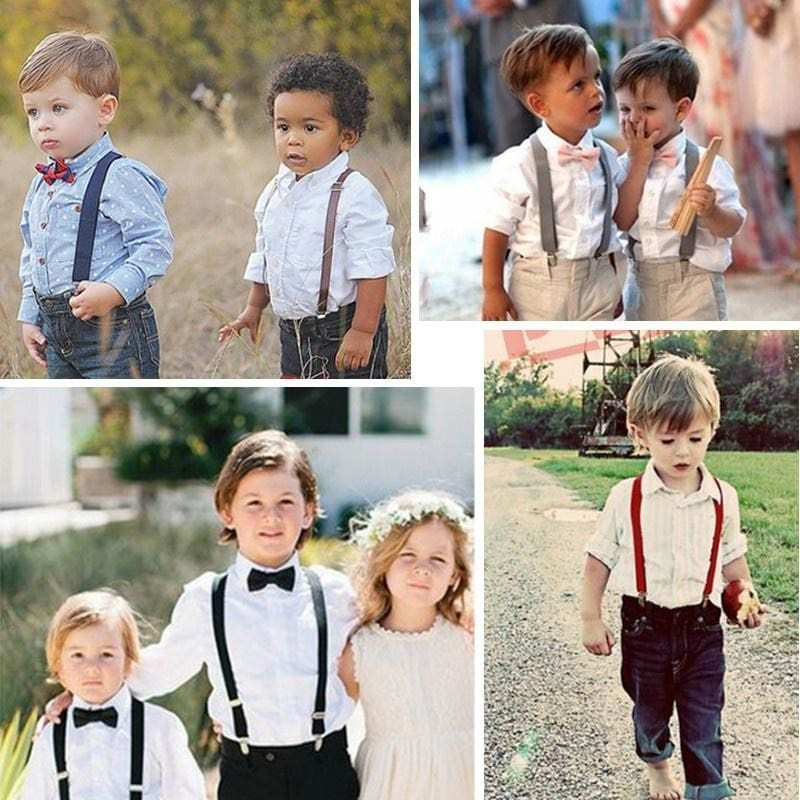 New Super CUTE KIDS BABY PINK Suspenders Adjustable Fashion Suspenders For Youth