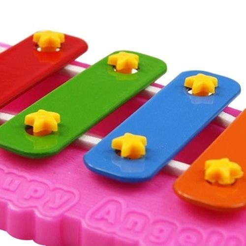 New Musical Educational Animal Developmental Music Bell Toy 4 Tone for Kids Baby