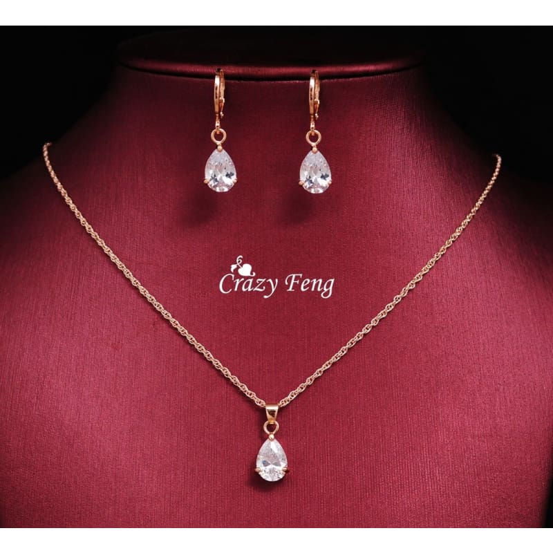 White Gold Plated Hollow Round Crystal Pendant Necklace Leather Wedding Jewelry