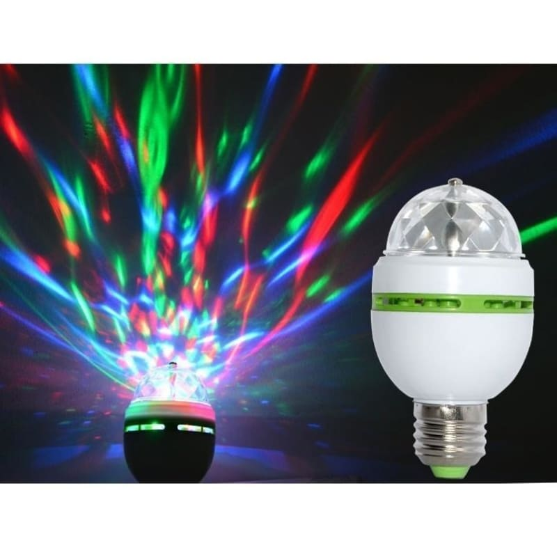 Lamps Colorful Home Disco Stage Auto Party RGB LED Bulb Rotating Light USB 5W