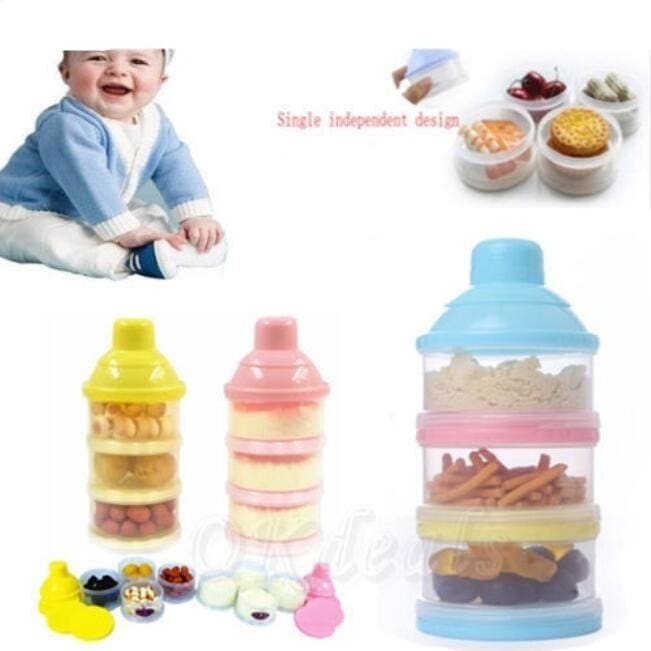 Baby Infant Portable Feeding Milk Powder Food Box Storage Food Bottle Container