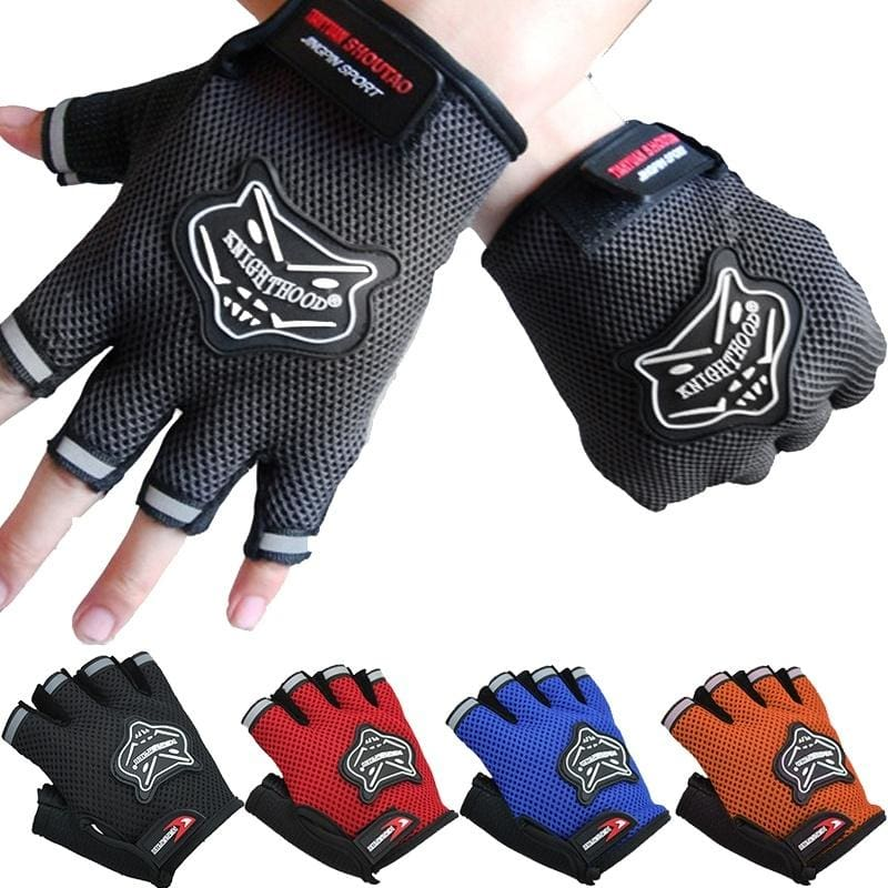 Outdoor Sports Cycling Bicycle Bike Half Finger Finger less Gloves FAST Ship