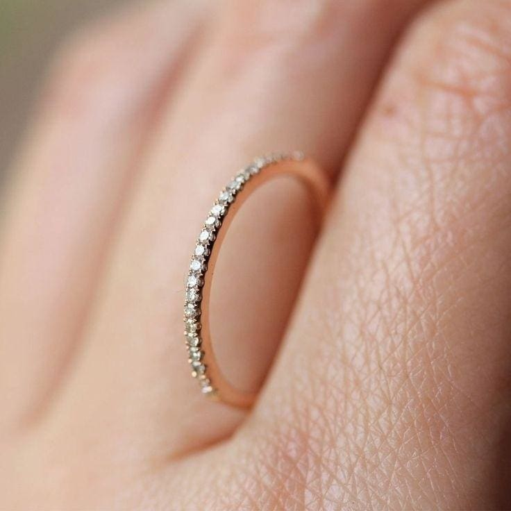 Women 18K Solid Rose Gold Stack Twisted Ring Wedding Party Jewelry Gifts SZ 5-10