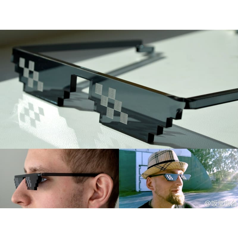 Thug Life Glasses 8 Bit Pixel Deal With IT