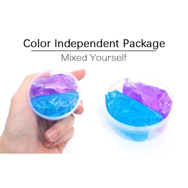 Eye Slime Blue Sky Colorful Star Color Fluffy Slime DIY Crystal Anti-Stress Toy