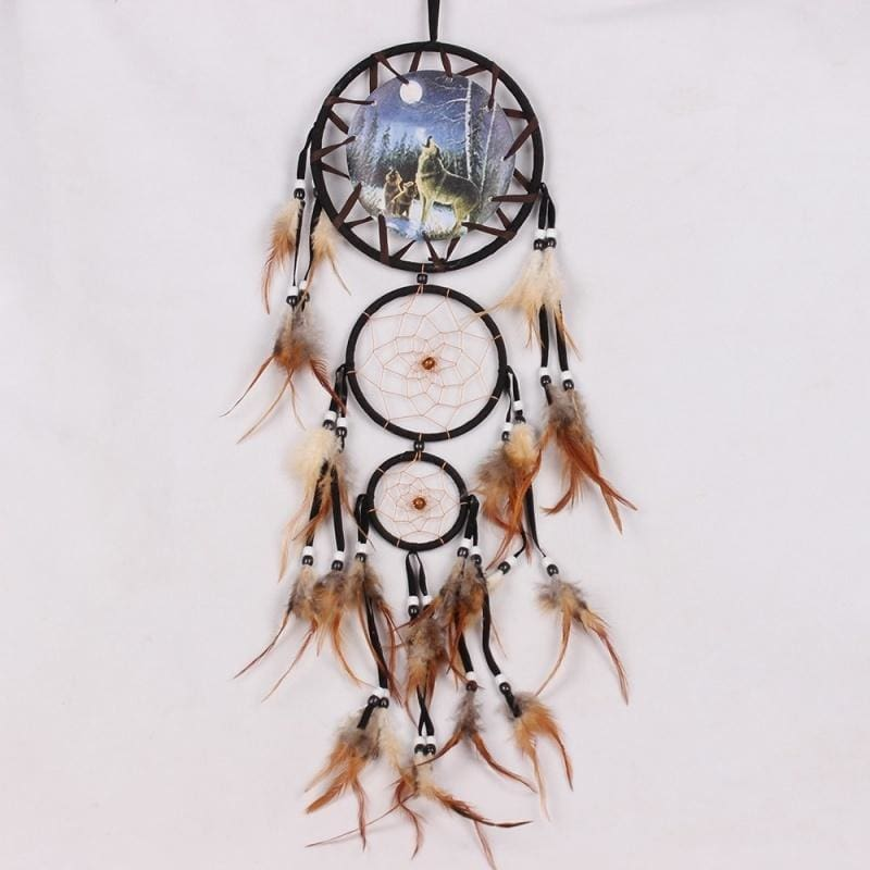 """Dream Catcher Wall Hanging Home Decoration Ornament Bead Feather Suede long 24 /"""""""