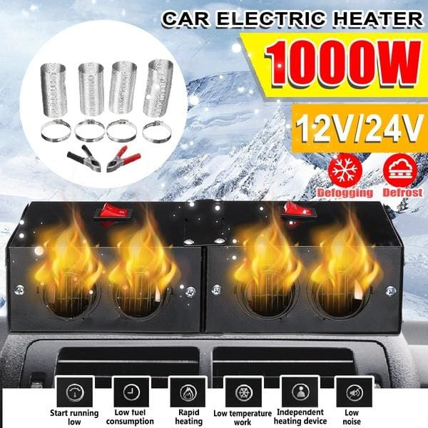 1000W PTC Ceramic Heating Fans Window Defroster Warm Air Heater Car Truck Bus