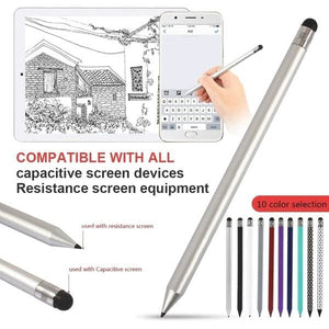 Dual Mutilfuctional Touch Screen Pen Capacitive Stylus Pen for iPad Tablet~G3