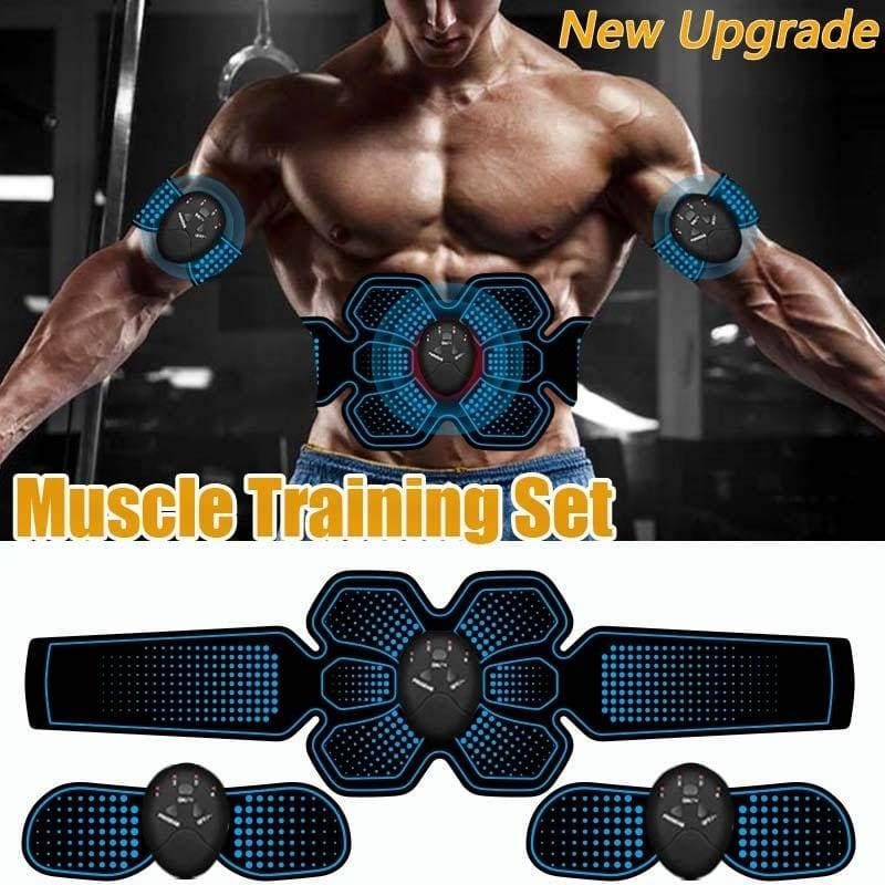 EMS Remote Control Abdominal Muscle Trainer Body Building Fitness Abs Strong New