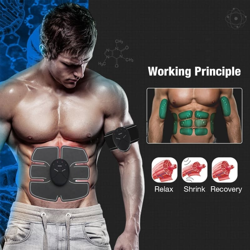 EMS Muscle Fit Training Gear Abdominal Body Home Exercise Shape Fitness pro