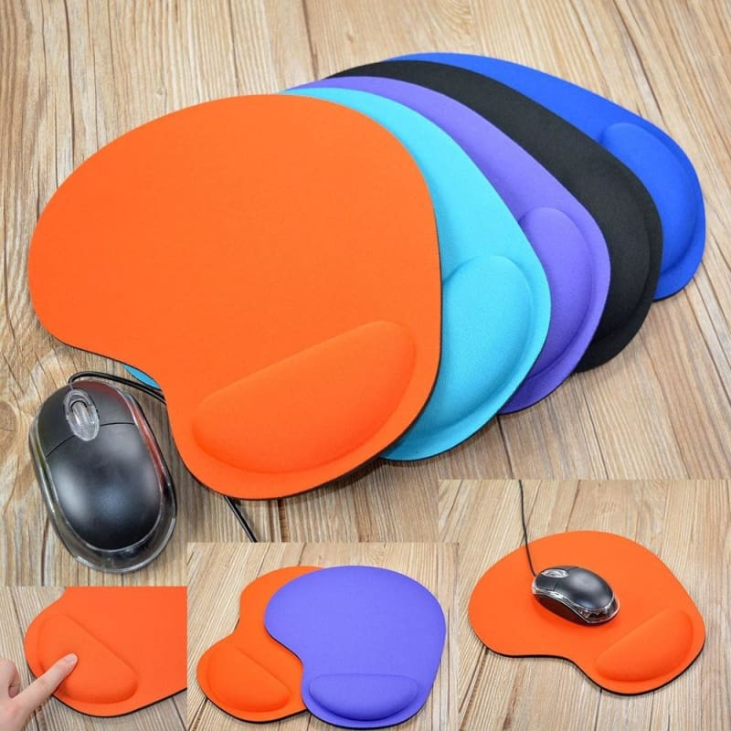 Silicone Soft Mouse Pad with Wrist Rest Support Mat for Gaming PC Laptop re
