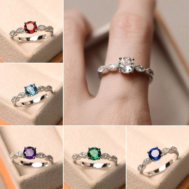 Exquisite Women S 925 Sterling Silver Blue Topaz Rings For Women