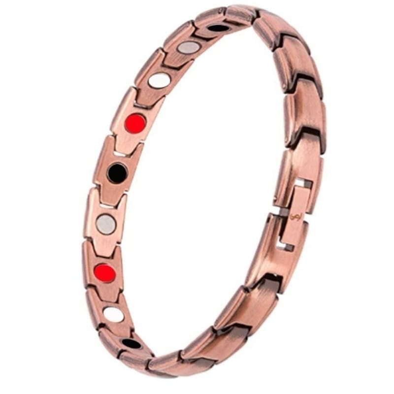 Energy Bracelet Gold Plated Copper Therapeutic Magnetic Health Care Hand Chain