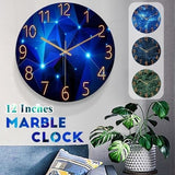 Fashion Glass Quartz Clock Home Living Quiet Silent Simple Clock