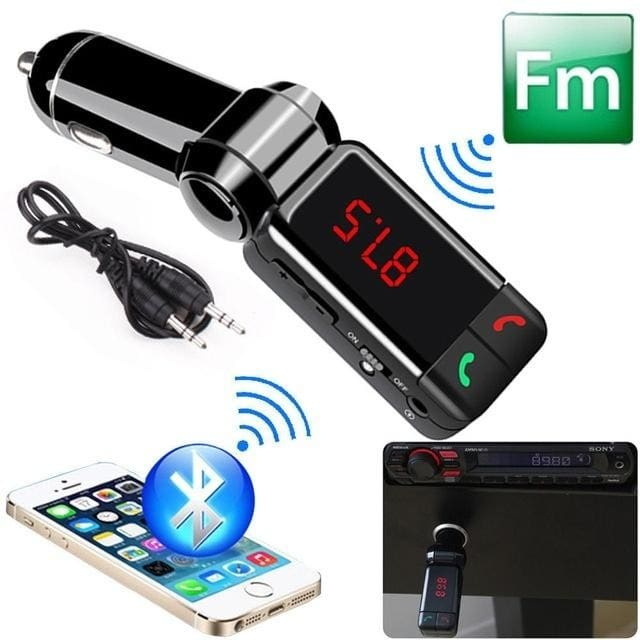 Wireless Bluetooth FM Transmitter Modulator Car Kit MP3 USB Player Dual Charger