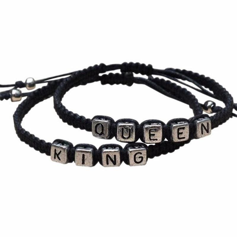1pair Couples Lovers Bracelet His Hers Personalized Gift Key lock Jewelry Hot