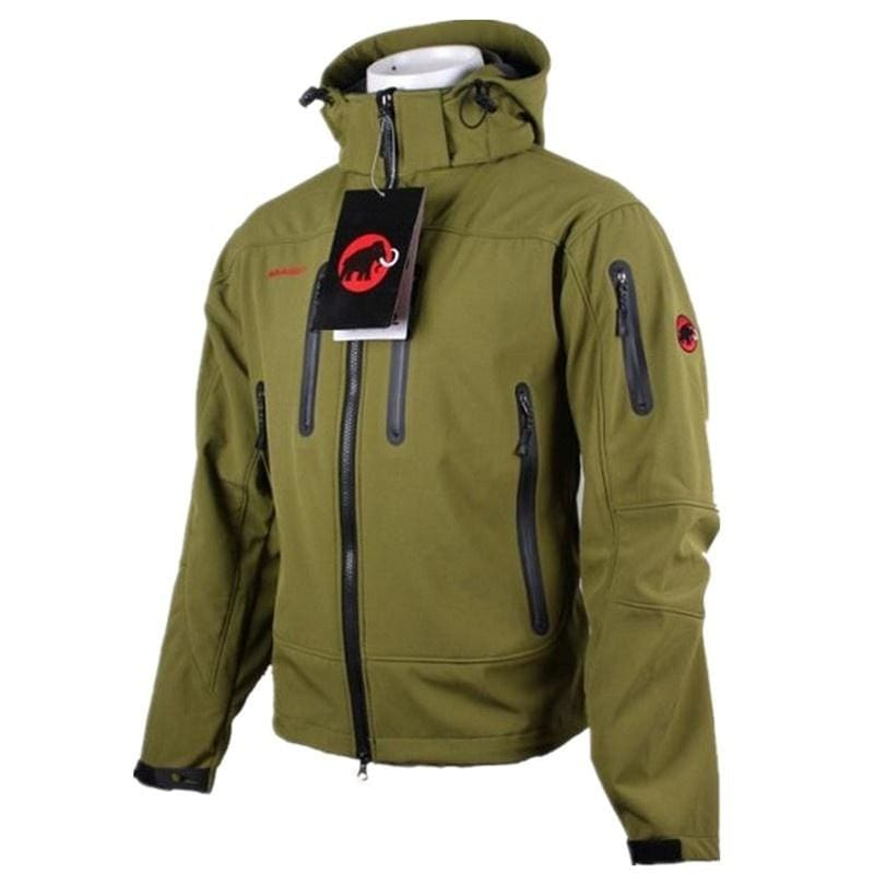 Fashion Winter Real Men Hooded Softshell for Windproof and Waterproof Clothes Soft Soft Shell Jacket