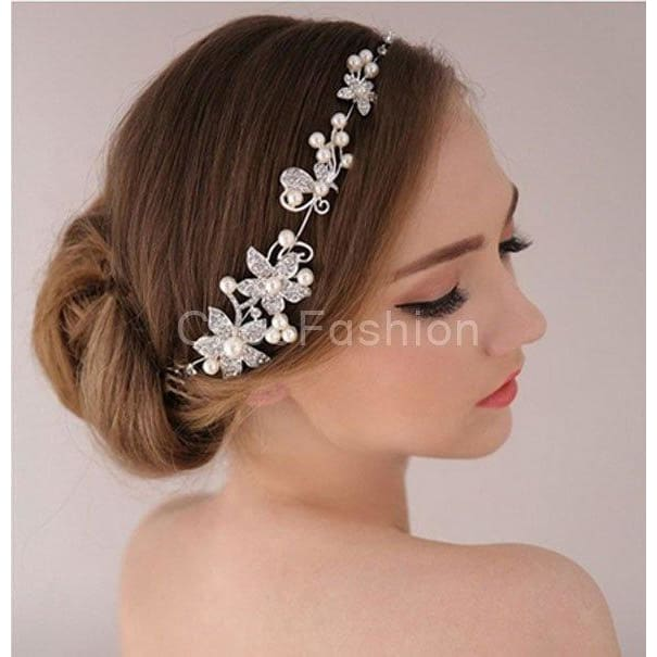 Stunning Headband wBeads /& Crystal  Formal Wedding Party Gorgeous Hair Band