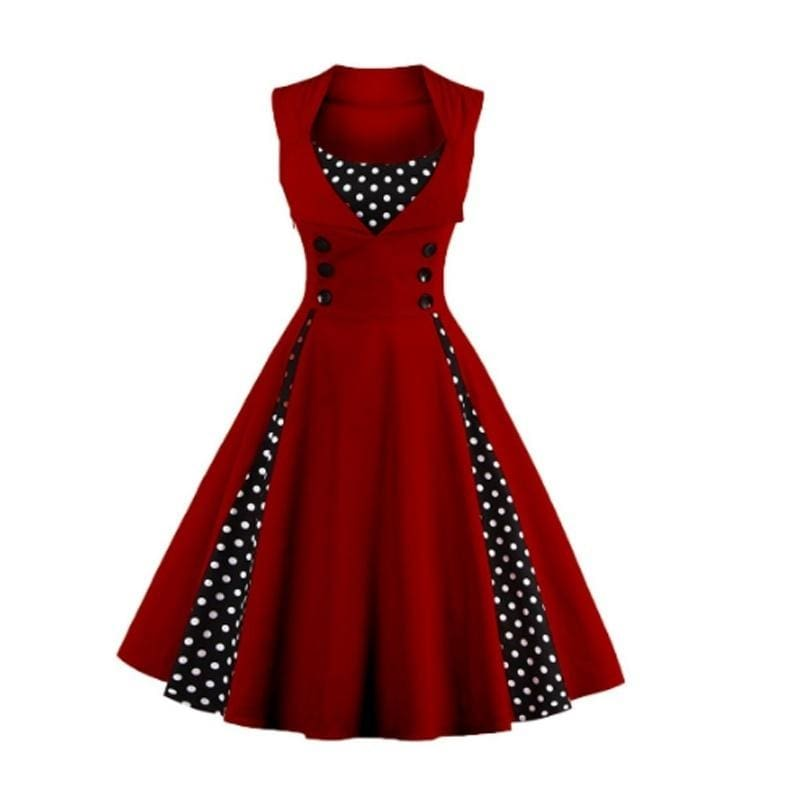 S L M XL Women/'s Retro Pinup Rockabilly Peplum Strapless Floral Dress
