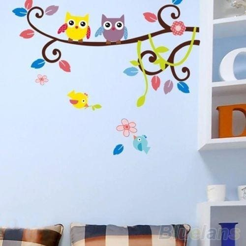 DIY Tree Owl flower Removable Art Vinyl Quote Wall Sticker Decal Home Kid Decor