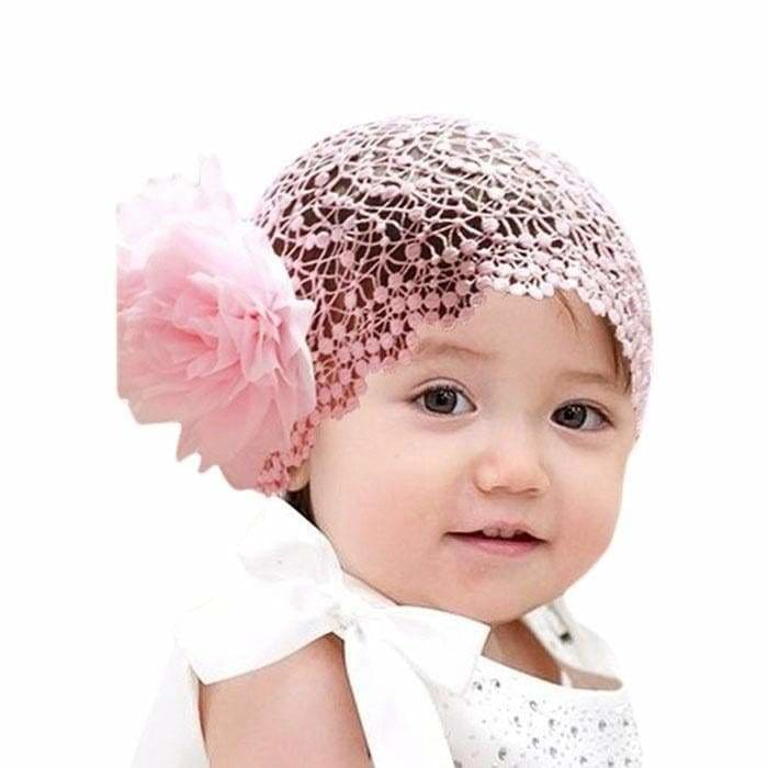 Baby Toddler Infant Lace Flower Hair Bow Fashion Headband Band Headwear