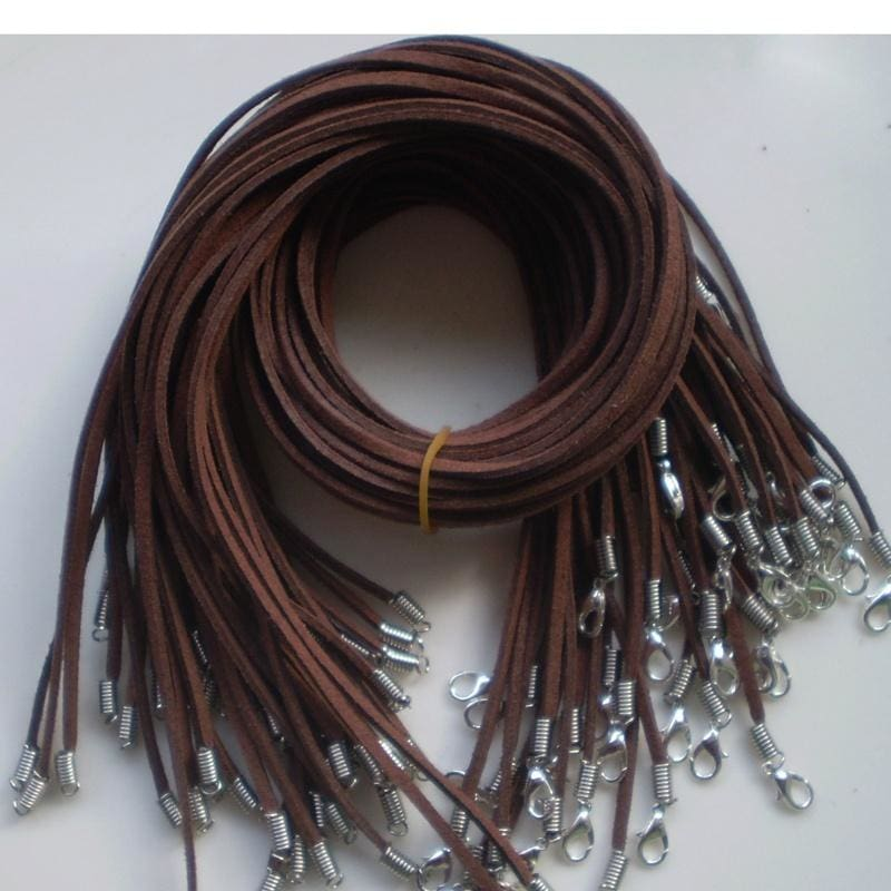 10//50pcs Black Brown Suede Leather String Necklace Cord Jewelry Making DIY