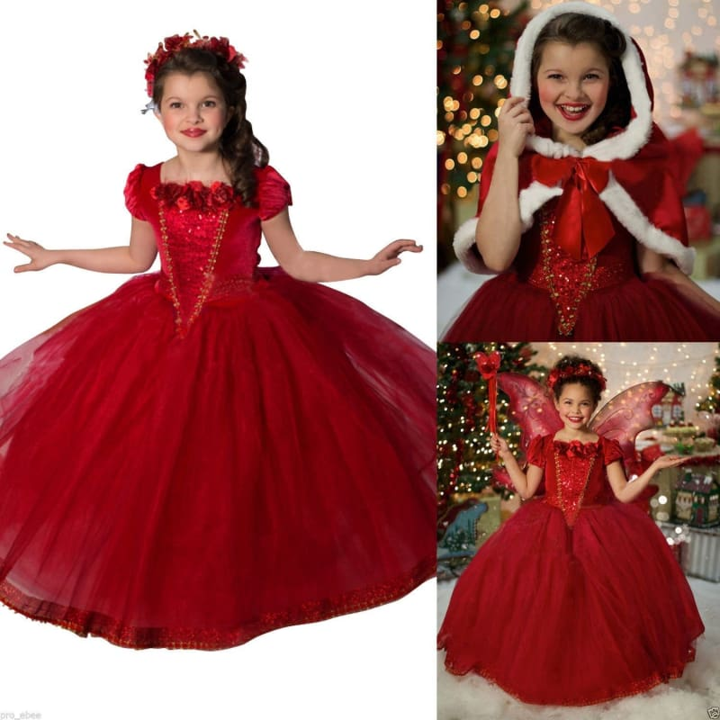 Baby Kid Girl Princess Party Tutu Tulle Dresses Halloween Costume Fancy Dress Up