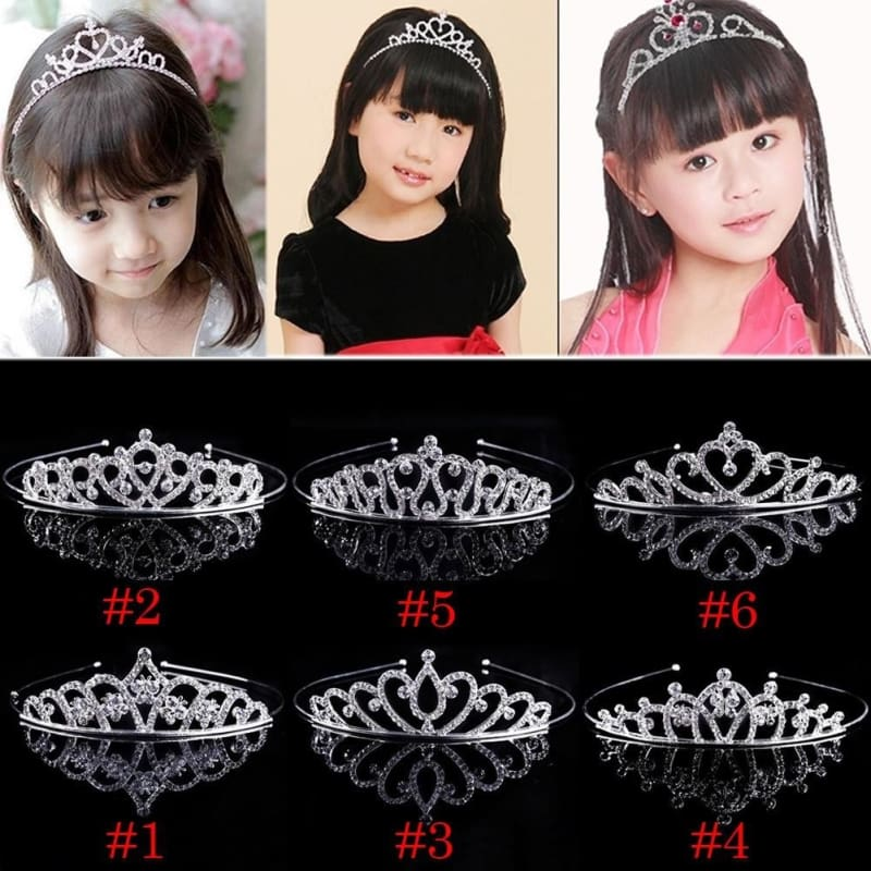 Girls Kids Crystal Princess Wedding Bridemaid Party Tiara Crown Hair headband