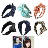 Girl Sweet Big Flower Polka Bowknot Ribbon Hair Accessory Headband Bow