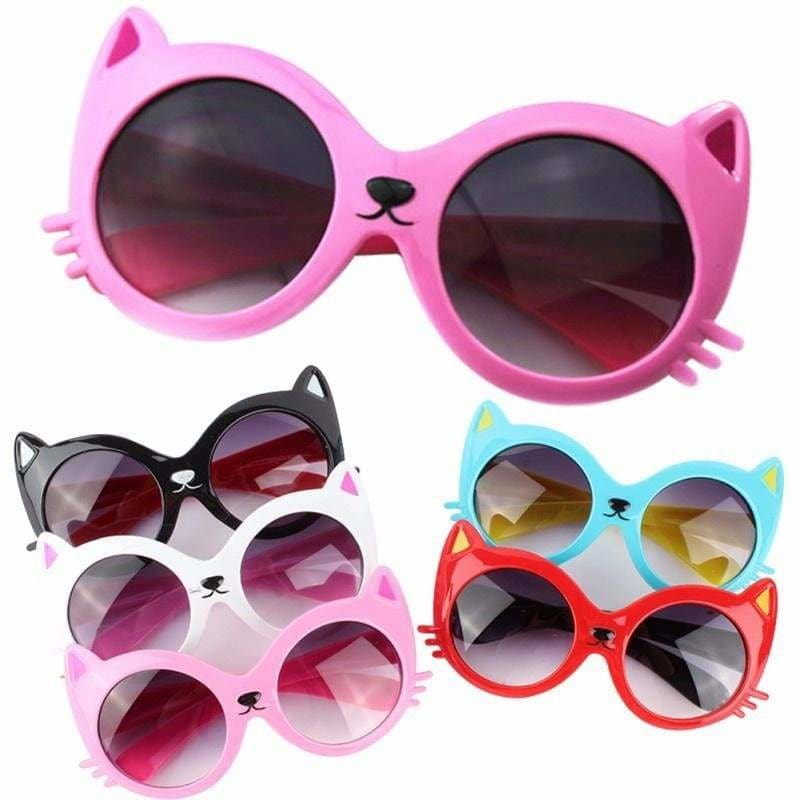 Girls Boy 5 Colors Cartoon Cat Anti UV400 Eyeglasses Toddler Baby Sunglasses  IS