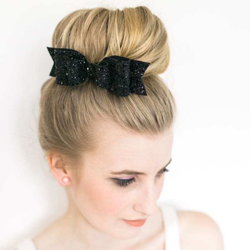 Women Girls Sequins Big Bowknot Barrette Hairpin Hair Clips Hair Bow Large Size