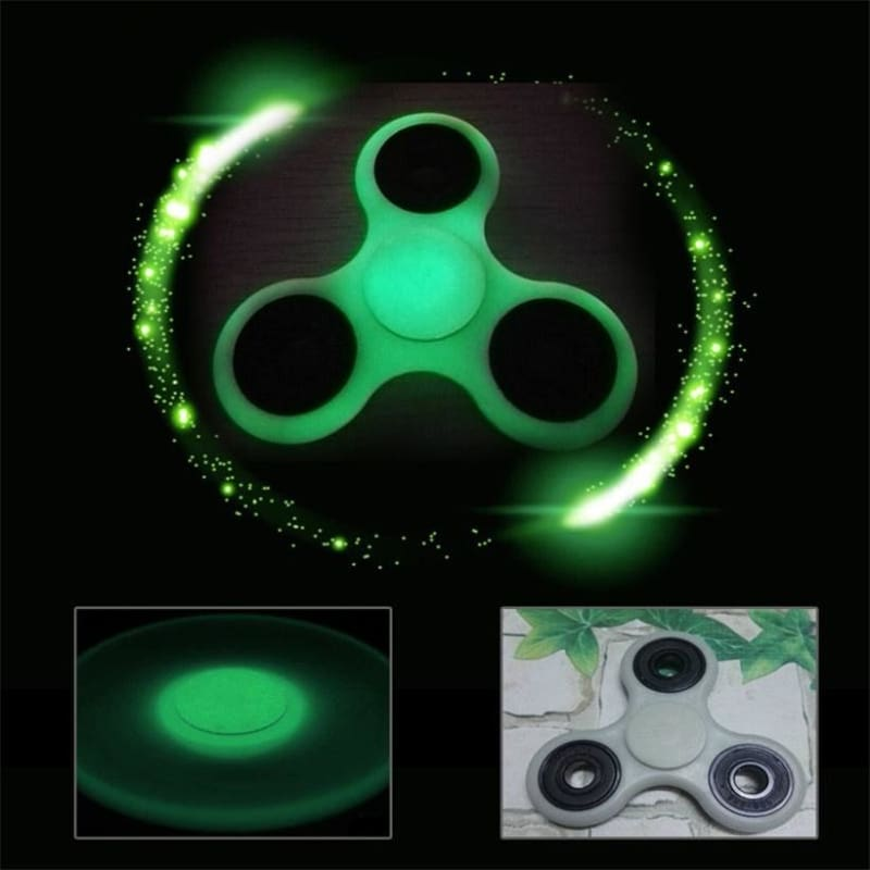 Glowing Hand Spinner Tri Fidget Desk Focus Toy EDC For Kids//Adults