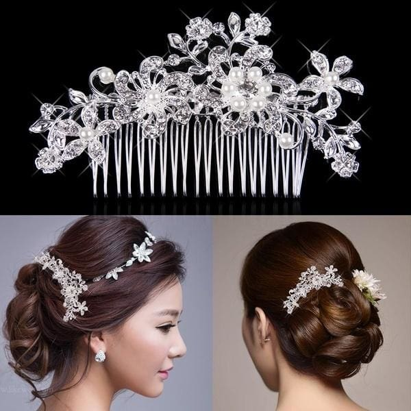 Women Beauty Fashion Gold Crystal Hair Clip  Jewelry perfect Gift FREE SHIPPING