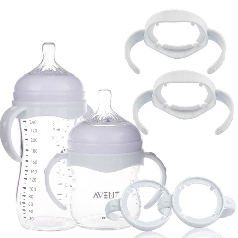 2 Pcs Baby Bottle Infant Grip Handle Avent Natural Wide Mouth Feeding Popular LF