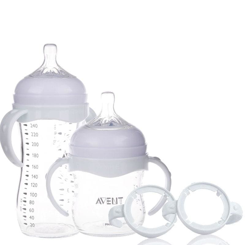 2Pcs Bottles Grip Handle for Avent Natural Wide Mouth Feeding Bottle Accessories