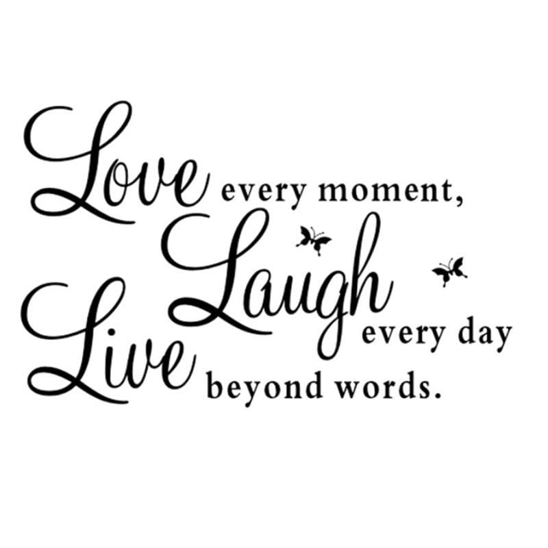High Tech/Durable Quote Wall Art Sticker Live Love Laugh ...