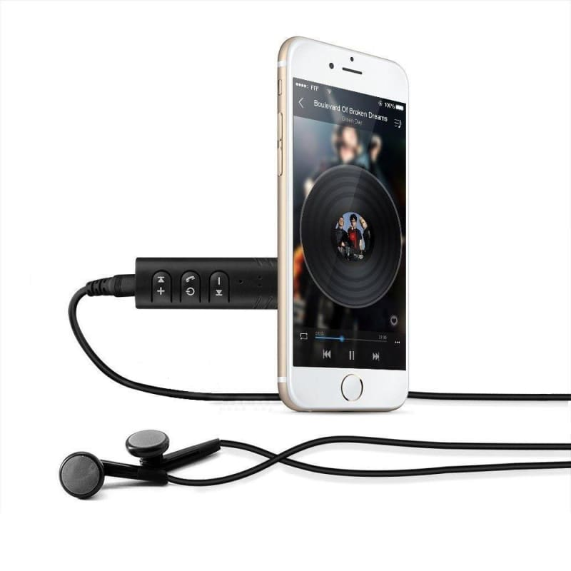 Wireless Bluetooth V4.1 3.5mm AUX Audio Stereo Music Car Receiver Adapter Black