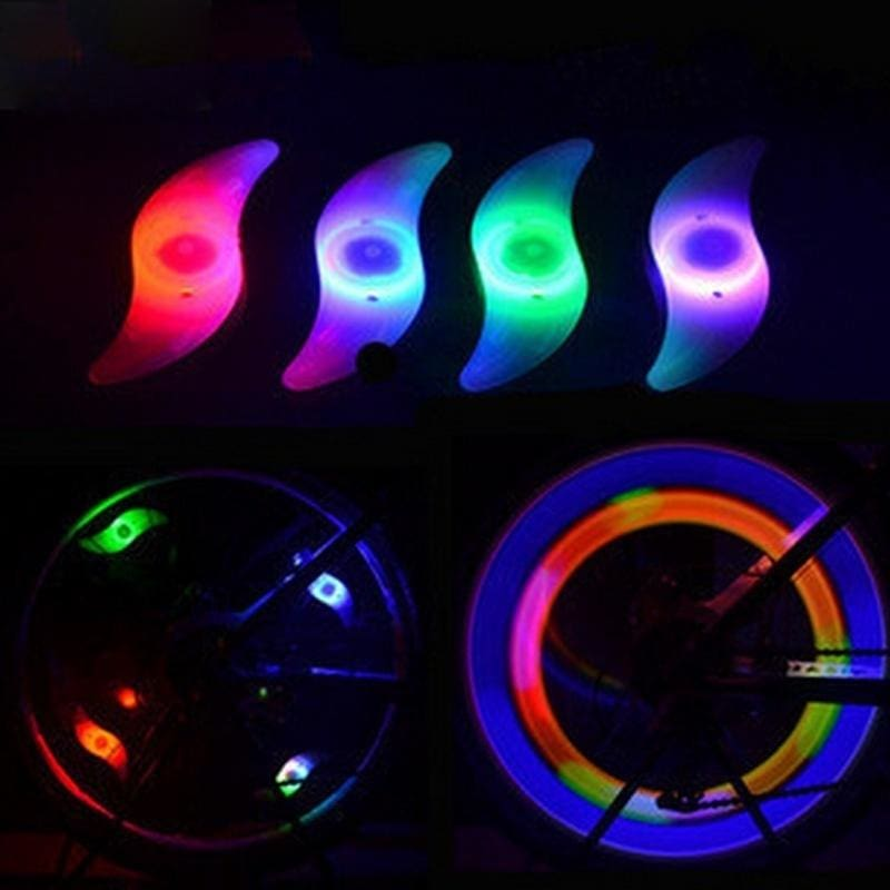 Colourful Bikes Bicycle Cycling Spoke Wire Tire Tyre Wheel LED Bright Light Lamp