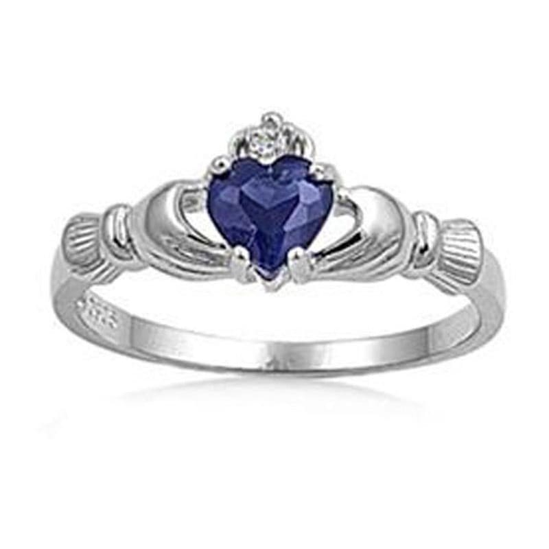 925 Sterling Silver Irish Claddagh Ring Size  4-7