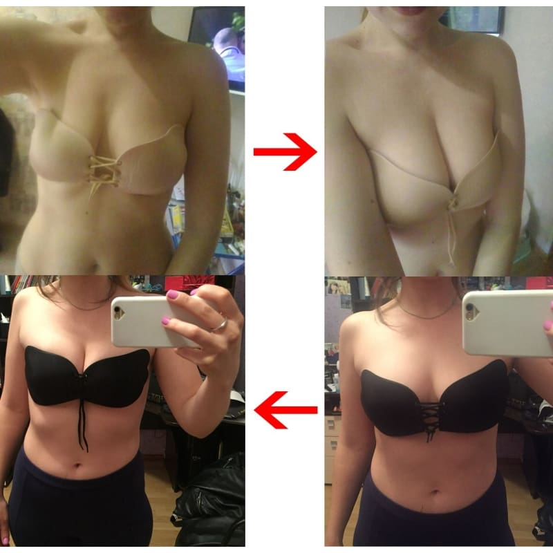 Closure Free Breathing Self Adhesive Push Up Strapless Backless Invisible Bras