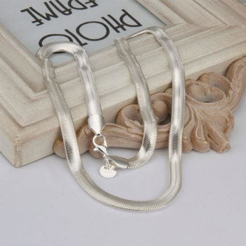 """FREE GIFT BAG Silver Plated  Snake Chain Necklace 20/"""" Ladies Jewellery Cute Xmas"""