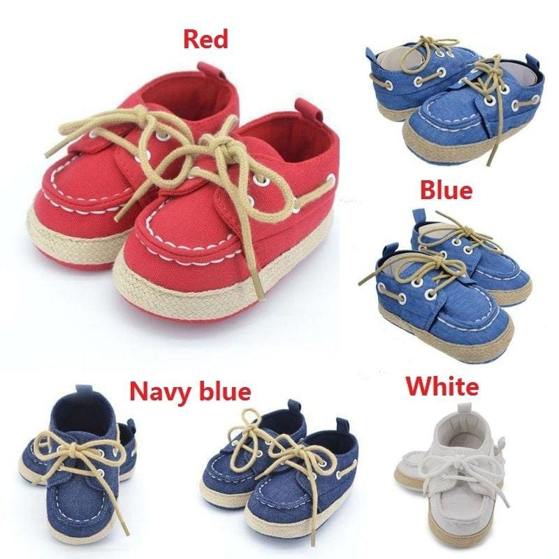 Infant Toddler Baby Boy Girl Soft Sole Crib Shoes Sneaker 18 Months Star White