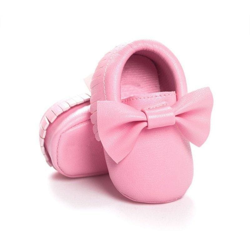 Baby Mary Janes Toddler Infant Soft Sole Bowknot Prewalker Leather Crib Shoes