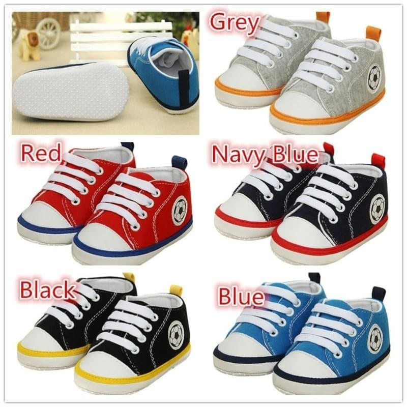 Baby Soft Bottom Shoes Boy Girl Sports Shoes Children Shoes Lace-Up Sneakers
